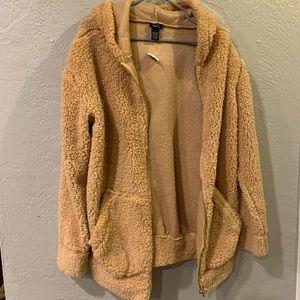 Puffy sweater zip hoodie